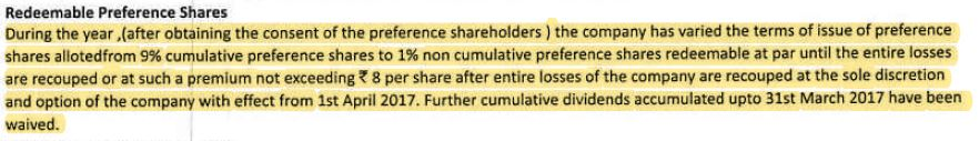 Modification of Preference shares